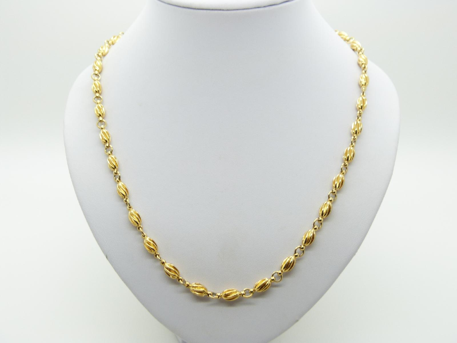 Signed Napier Long Fancy Link Gold Plated Necklace Lovely Quality!