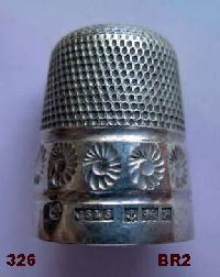 £30.00 - Collectable Hallmarked Silver Thimble 10646