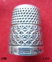 Collectable Hallmarked Silver Thimble 10667