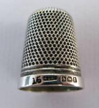 Collectable Hallmarked Silver Thimble 10868