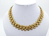 Stunning Antique Victorian Gold Base Metal Ornate Link Collar Necklace