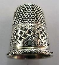 Collectable Hallmarked Silver Thimble 11612