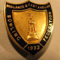 £4.00 - Collectible Midlands & East Anglia Bowling Badge #7345
