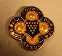 Collectible Cornwall County Bowling Badge #7347
