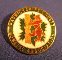 Collectable Warwickshire Bowling Badge #7348