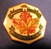 Collectable Canadian Bowling Badge #7350