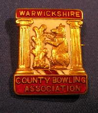 £4.00 - Collectable Warwickshire Bowling Badge #7357