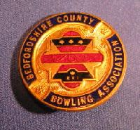 Collectible Bedfordshire County Bowling Badge #7361