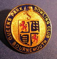 Collectible Queens Park Bournemouth Bowling Badge #7365