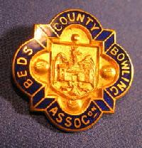 Collectible Bedfordshire County Bowling Badge #7367