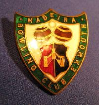 £4.00 - Collectible Madeira Bowling Badge Exmouth  #7372