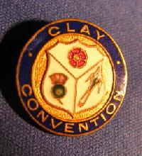 Collectible Clay Bowling Badge #7377