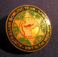 Collectible Australian Bowling Club Team Badge #7381