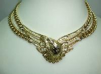 80s Butler & Wilson Liberty Eagle Diamante Chunky Chain Necklace RARE