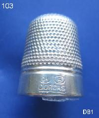 £35.00 - Silver Thimble Marked CH  Dorcas  8386
