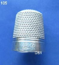 £35.00 - Silver thimble  marked CH Dorcas 8387