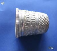 £15.00 - Vintage Aluminium Metal Thimble 8401