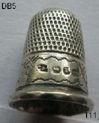 Collectable Hallmarked Silver Thimble 8433