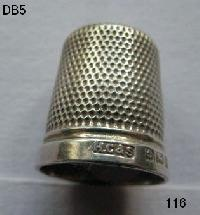 Collectable Hallmarked Silver Thimble THE SPA 8437