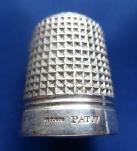 Vintage Silver Clad Dorcas Thimble Marked PAT9076