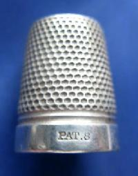 Vintage Silver Clad Dorcas Thimble Marked PAT 8 9078