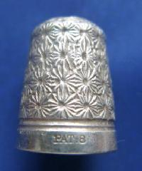 Vintage Silver Clad   Thimble By Charles Horner PAT 8 9081
