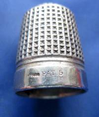 Vintage Silver Clad Dorcas Thimble By Charles Horner  PAT 5 9143