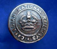 £6.00 - Collectable Vintage Canadian Railway  Button 9197