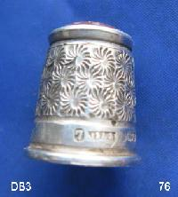 Collectable Hallmarked Silver Thimble 9207
