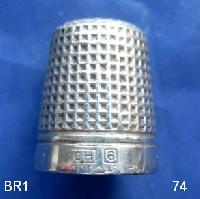 Vintage Silver Clad Dorcas Thimble By Charles Horner 9291