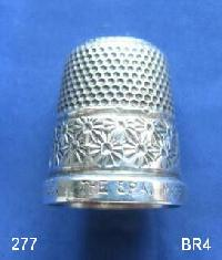£30.00 - Collectable Hallmarked Silver Thimble THE SPA  HG&S 9340