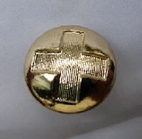 Collectable Brass Red Cross Button 9467