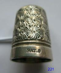 Vintage Silver CladThimble By Charles Horner 9648
