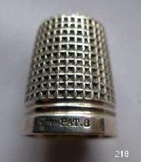 Vintage Silver CladThimble By Charles Horner 9651