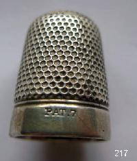 Vintage Silver CladThimble By Charles Horner 9652