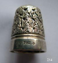 Vintage Silver CladThimble By Charles Horner 9656