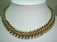 Vintage 50s Quality Fancy Link Heavy Goldtone Necklace Designer