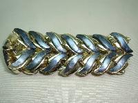 Vintage 50s Signed Coro Pegasus Wide Grey Thermoset Lucite Bracelet