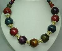 Vintage 70s Chunky Multicoloured Lucite Bead Necklace