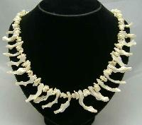 Vintage 50s Stunning Mother of Pearl Necklace QUALITY!
