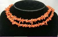 Vintage 30s Art Deco Genuine Red Branch Coral Flapper Necklace WOW