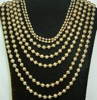 Vintage 50s Style Amazing Show Stopping 7 Row Gold Bead Necklace