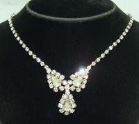Vintage 50s Stunning Teardrop Design Diamante Necklace