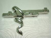 1970s Very Unusual Modernist Abstract Silver Brooch Statement Piece!