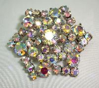 £15.60 - Vintage 50s Sparkling AB Diamante Starburst Brooch