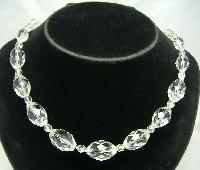 £26.40 - 1930s Quality Graduating Crystal Glass Bead Necklace