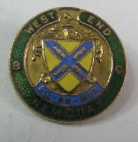 Collectable Newquay West End Bowling Club  Badge 11687