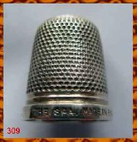 Collectable Sterling   Silver THE SPA Thimble 9988