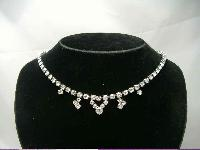£20.40 - Vintage 50s Quality Sparkling Diamante Drop Necklace