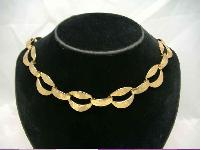 Vintage 50s Monet Wide Chunky Gold Link Necklace UNIQUE